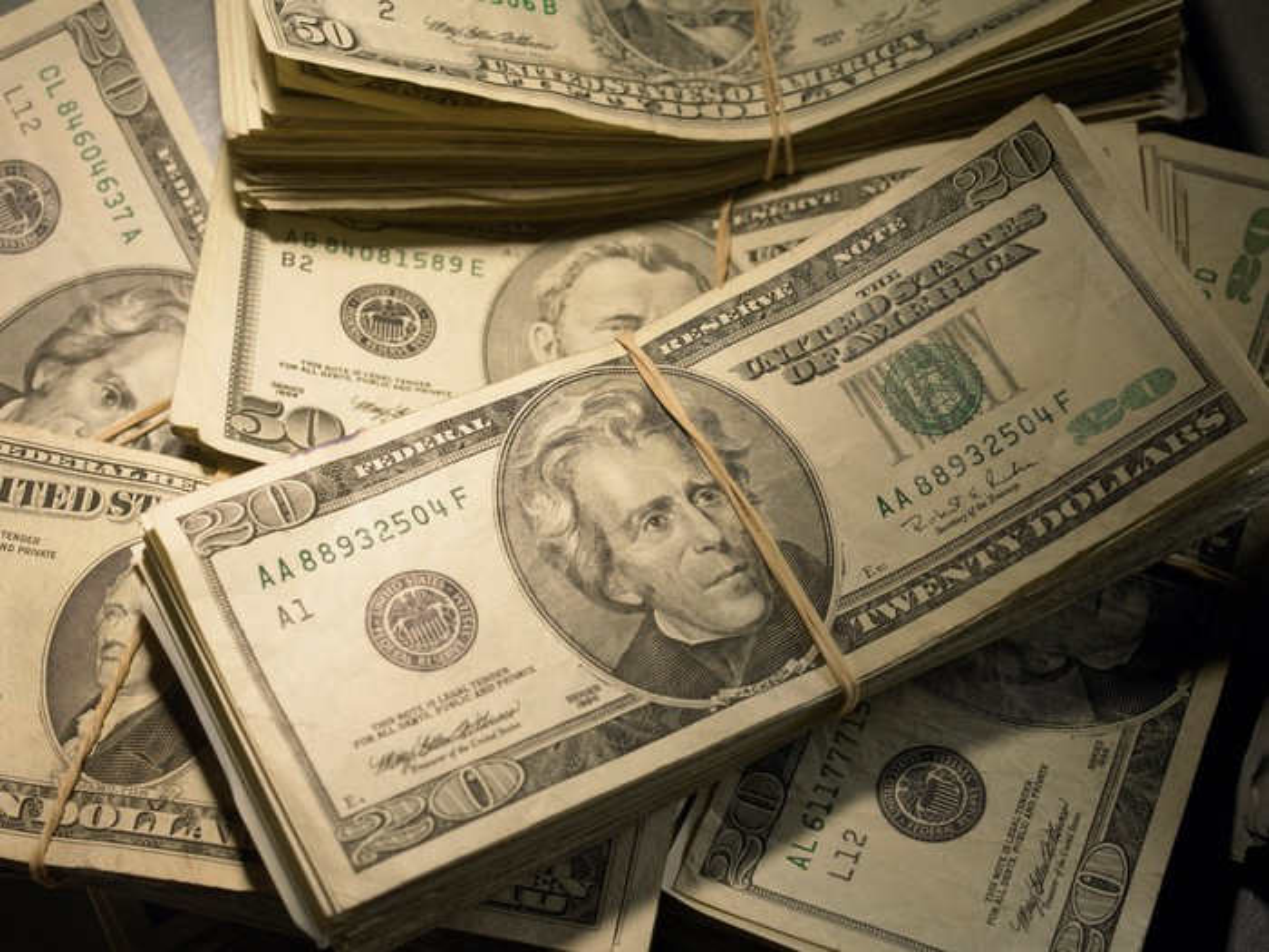 Stacks of cash.