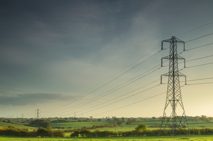 Electric transmission lines.