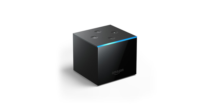 Fire TV Cube on a white background