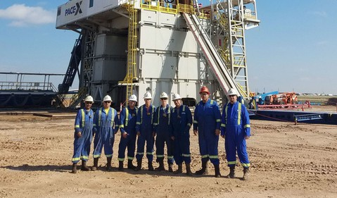 NBR rig with people