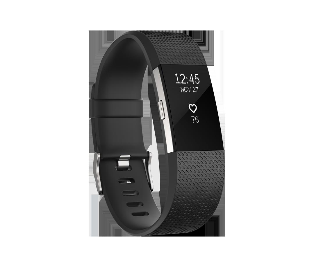Black Fitbit device.