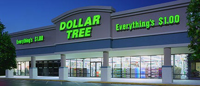 The exterior of a Dollar Tree store