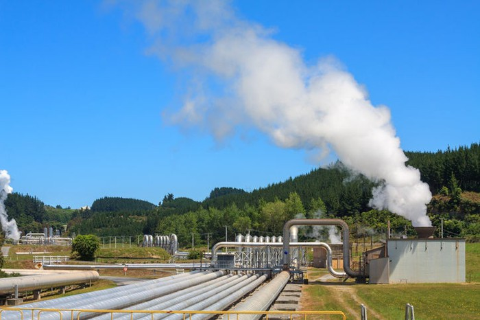 A geothermal power plant.