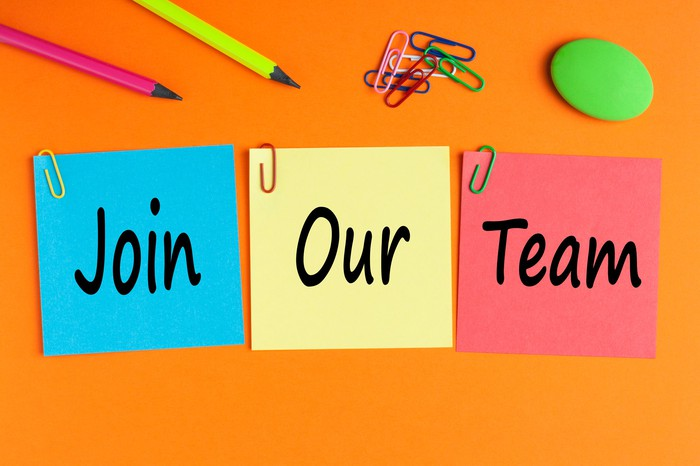 Join Our Team written on post-it notes