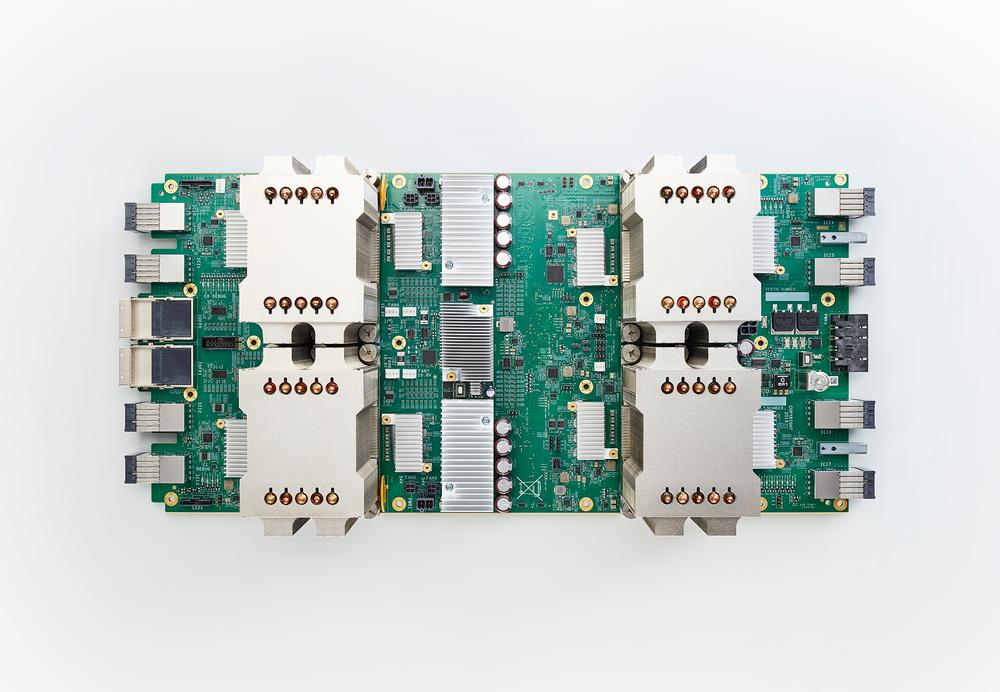 Google's Tensor Processing Unit (TPU) AI chip.