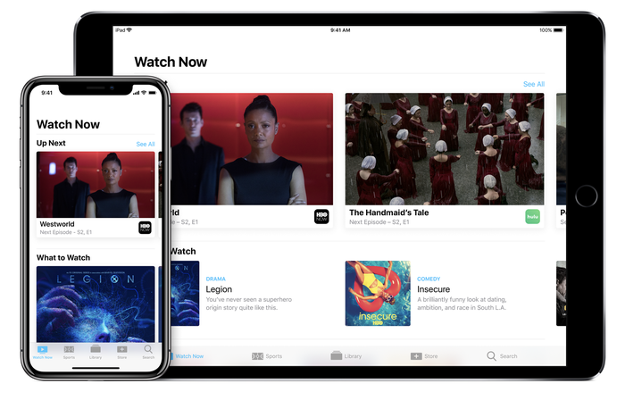 Apple's TV app on iPhone and iPad