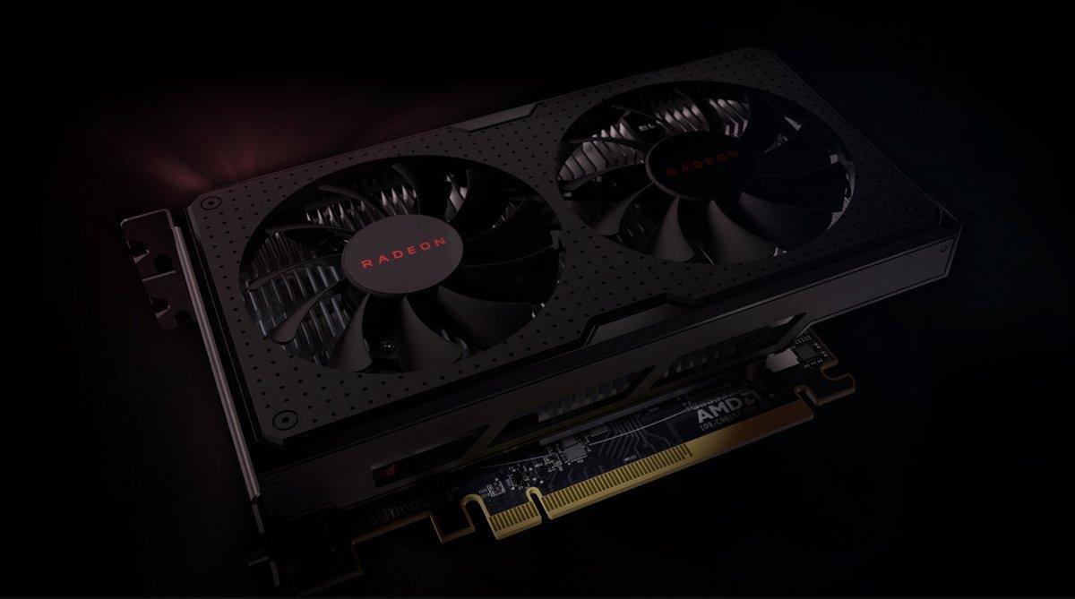 An AMD Radeon graphics card.