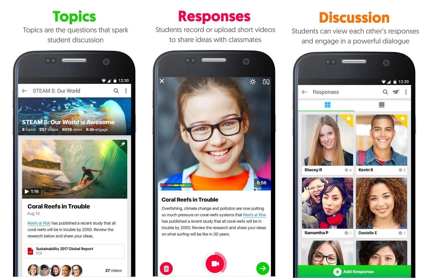 Flipgrid's mobile app.
