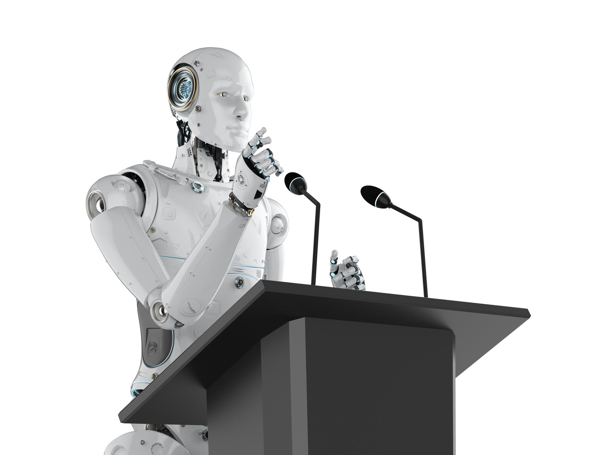 debate robot getty