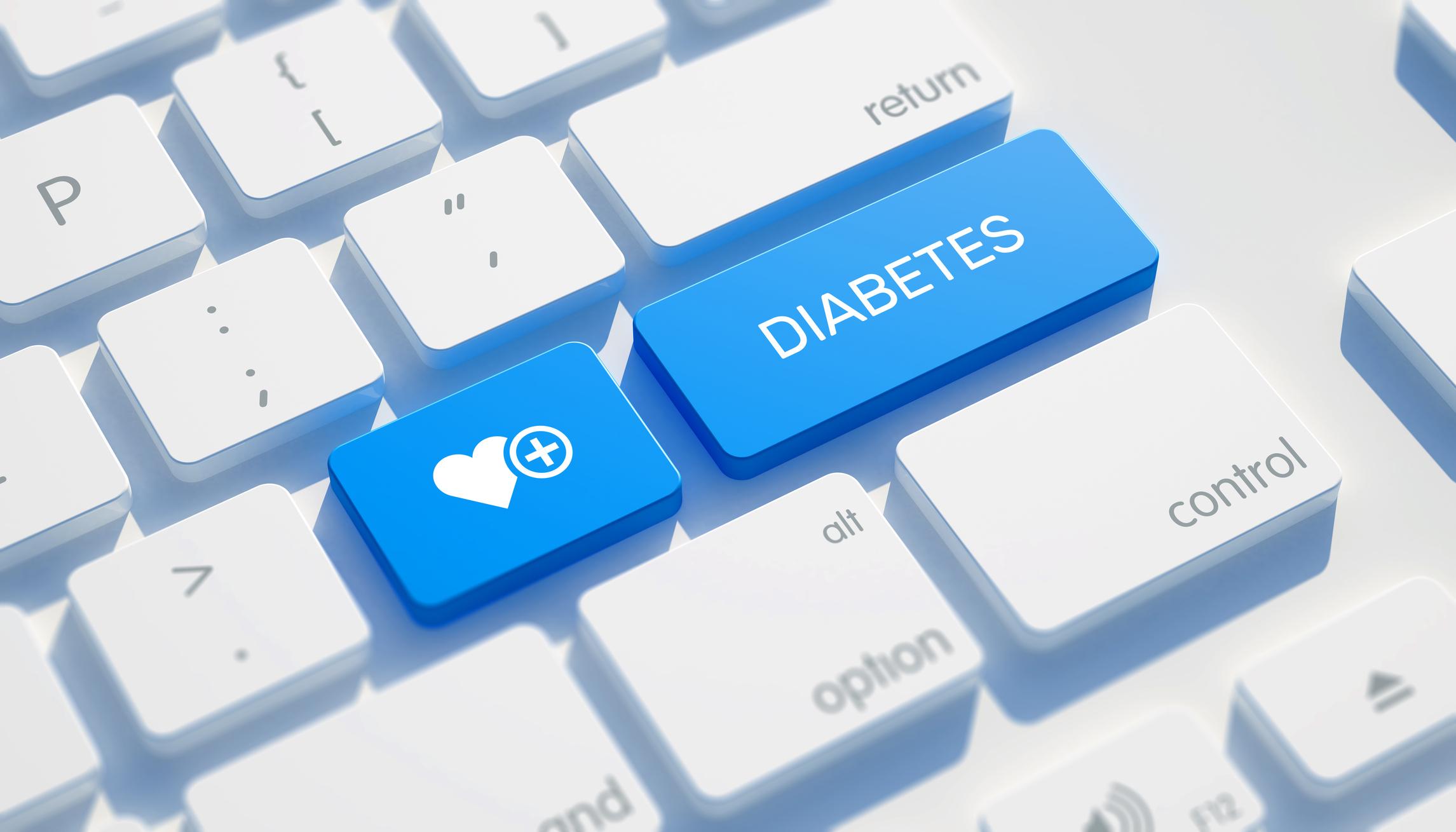Word diabetes on a keyboard