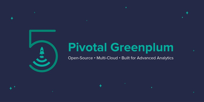 Logo feature Pivotal Greenplum against a mostly blank background.