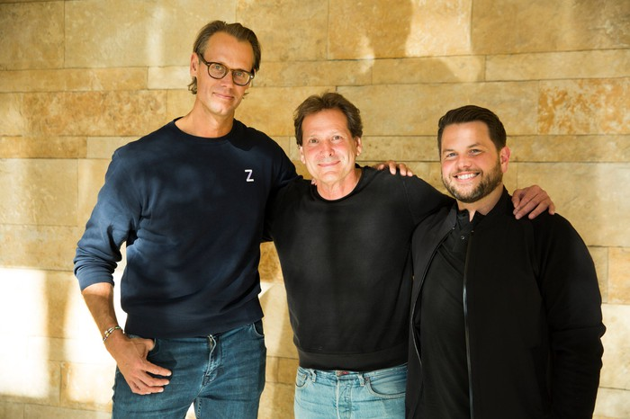 Jacob de Geer, CEO and Co-Founder of iZettle, Dan Schulman, President and CEO of PayPal, and Bill Ready, EVP, Chief Operating Officer of PayPal.