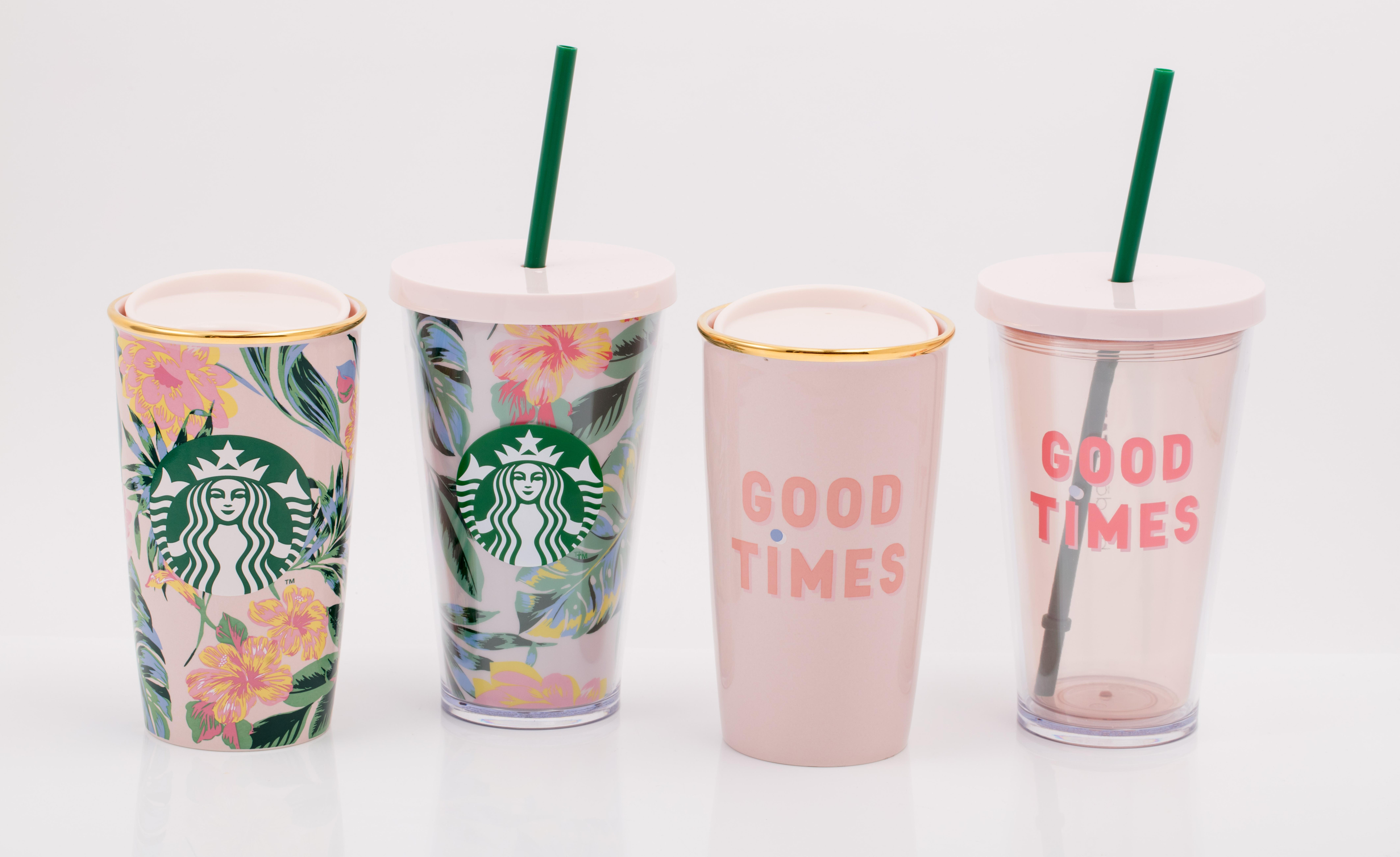 Starbucks' cups.