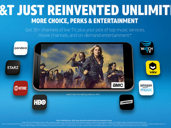 AT&T unlimited watch tv