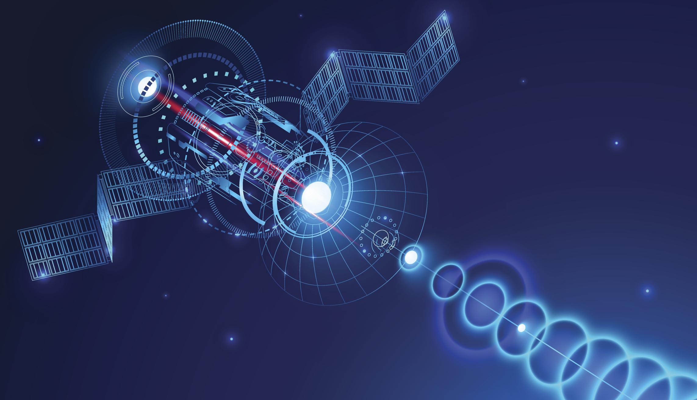 Satellite beaming a transmission