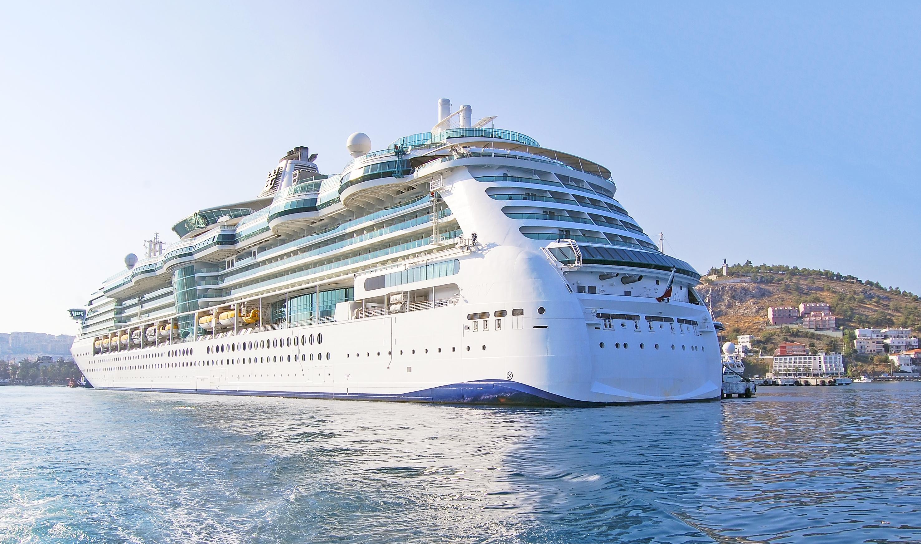 Cruise Ship Off an Island