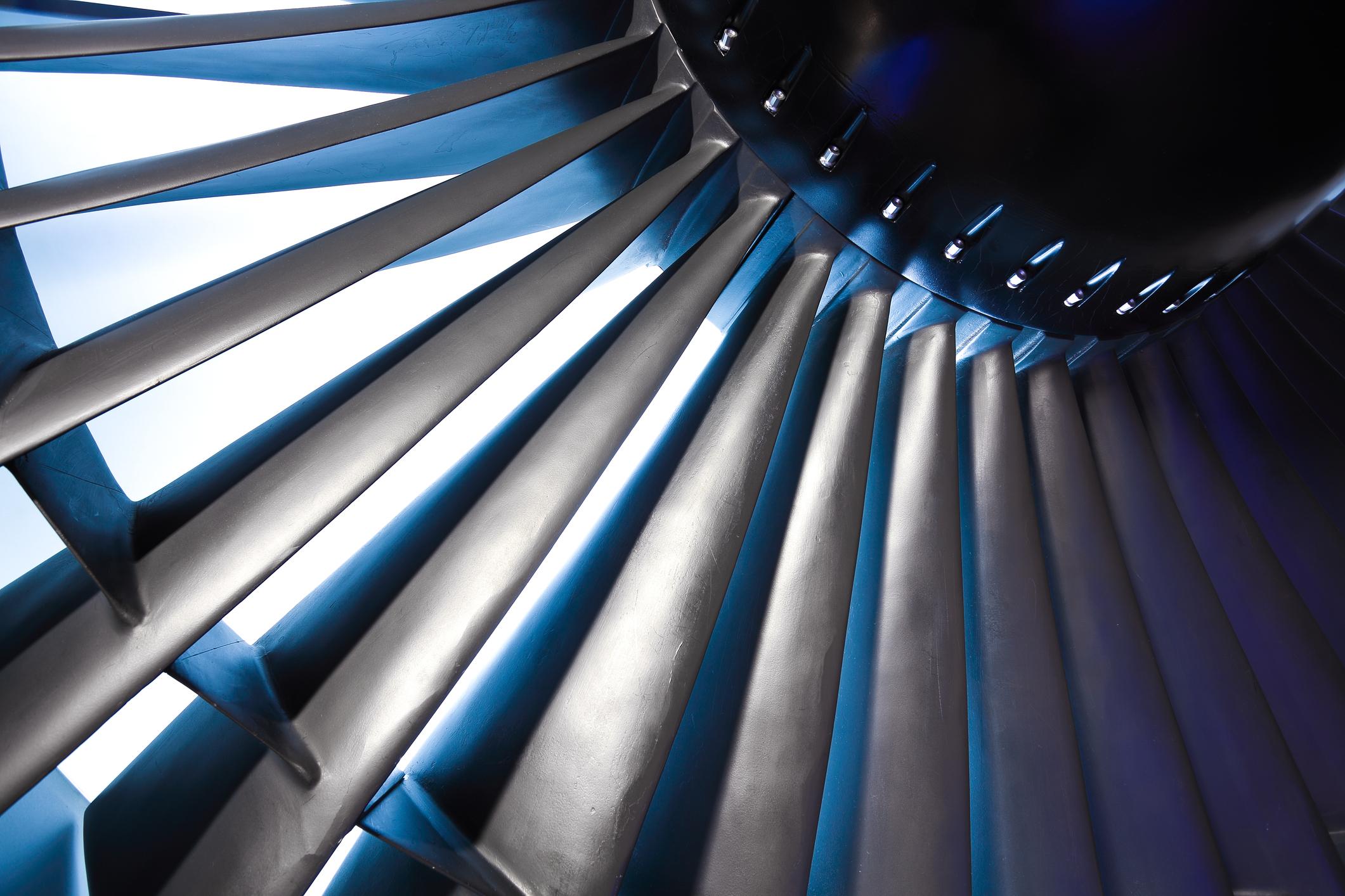 Close-up of a turbine.