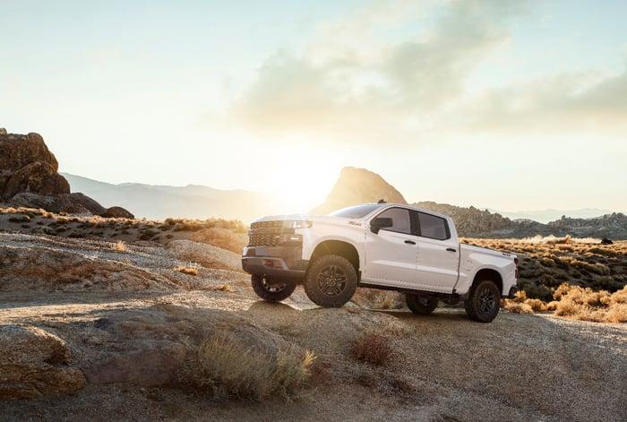 Image of 2019 Chevrolet Silverado parked off-road.