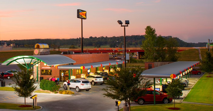 A Sonic drive-in.