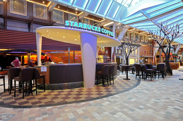 A Starbucks on a Royal Caribbean cruise ship.