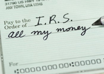 check to IRS for all my money tax