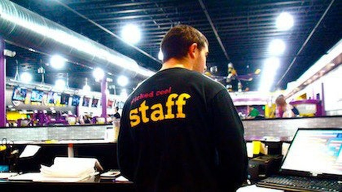 Planet Fitness staff member in gym