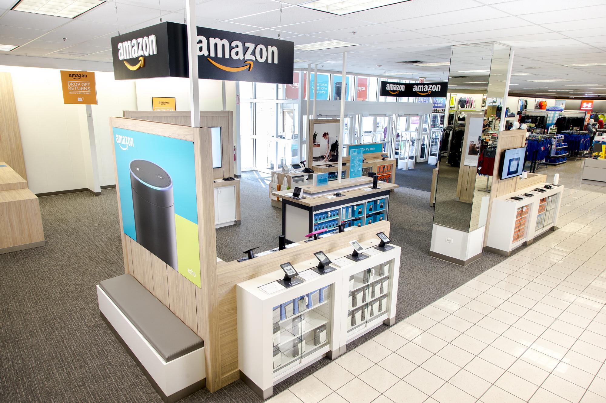 An Amazon store inside a Kohl's.