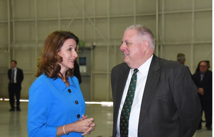 Kathy Warden with Maryland Governor Larry Hogan