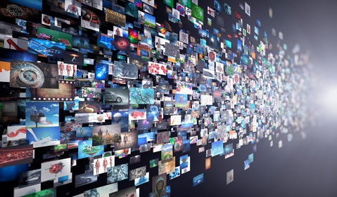 Wall of Computer Images
