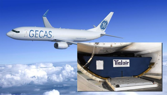 An Airplane In The Gecas Livery Along With Interior View Of Cargo Compartment
