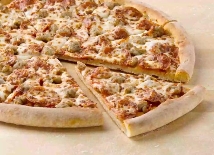 A Papa John's pizza