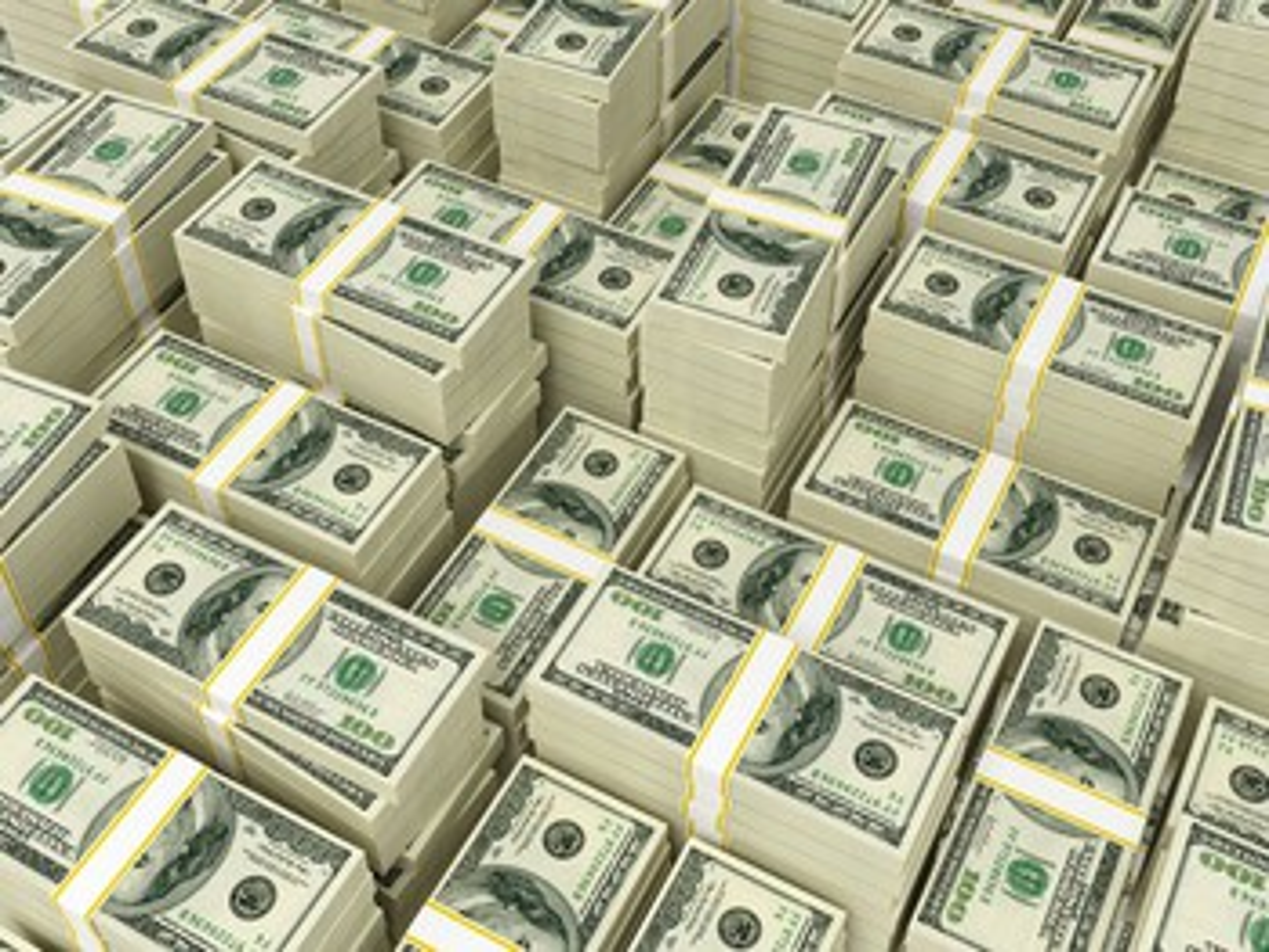 Cash piles GETTY