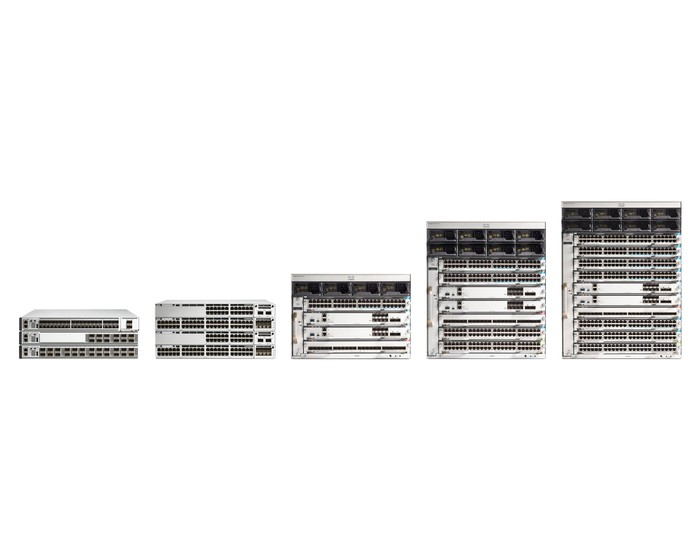 The Cisco Catalyst 9000 family of switches.