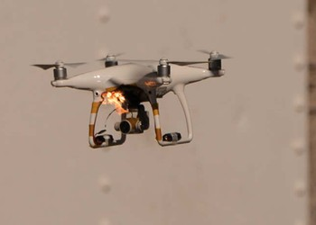 RTN UAV on fire