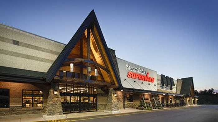The exterior of a Supervalu store