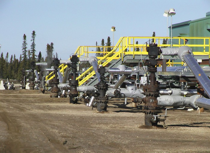 In-situ oil sands facility.