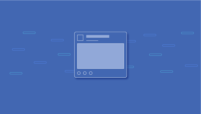 Generic illustration of a News Feed post