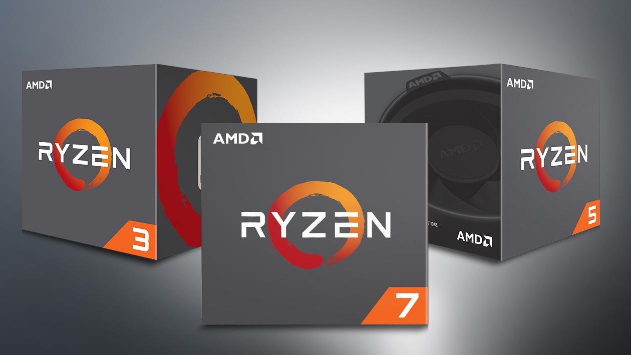 Boxed AMD Ryzen chips.