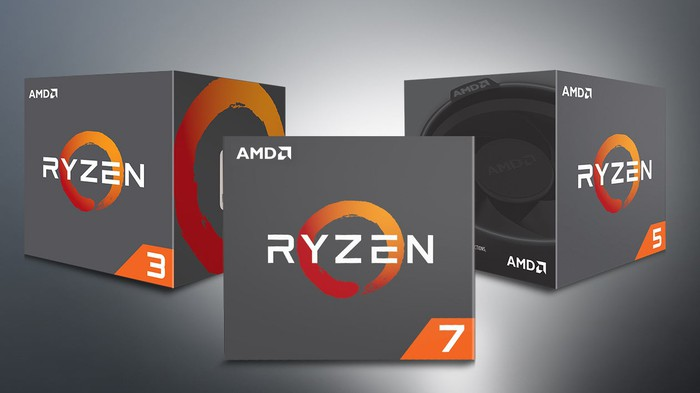 Boxed AMD Ryzen chips.