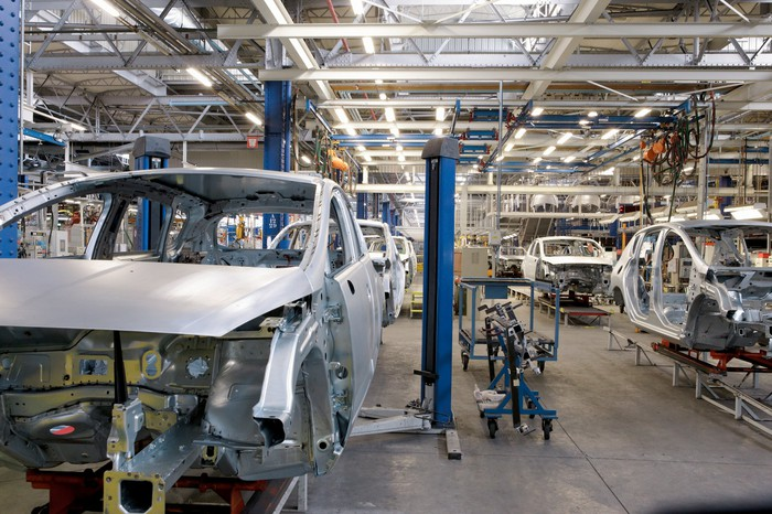A car production line