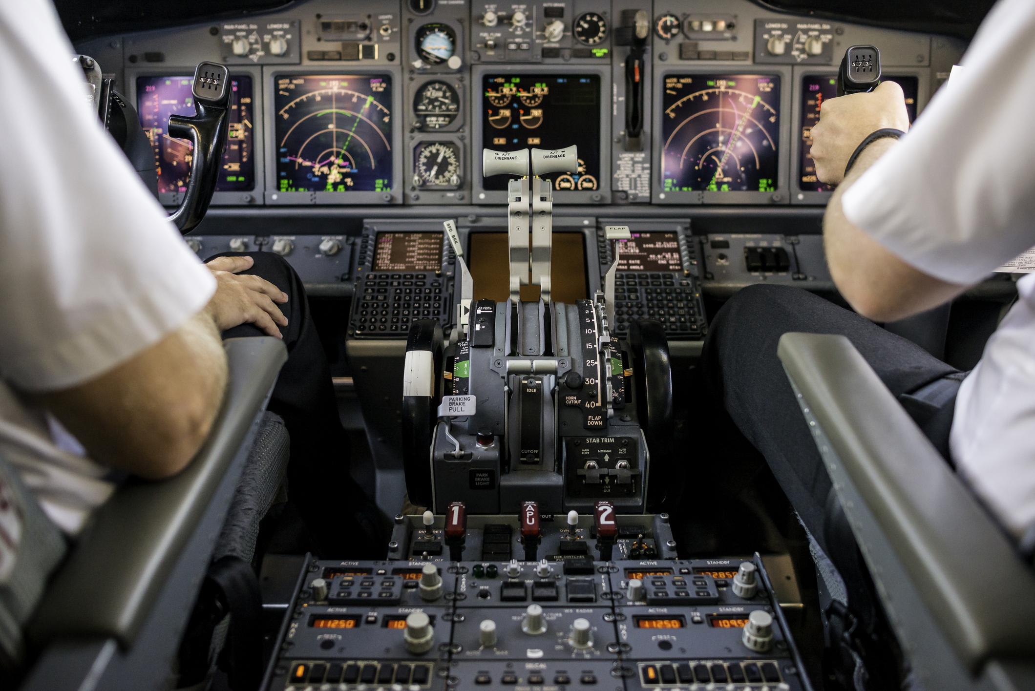 A Boeing 737 Cockpit.