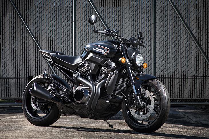 Harley-Davidson streetfighter motorcycle