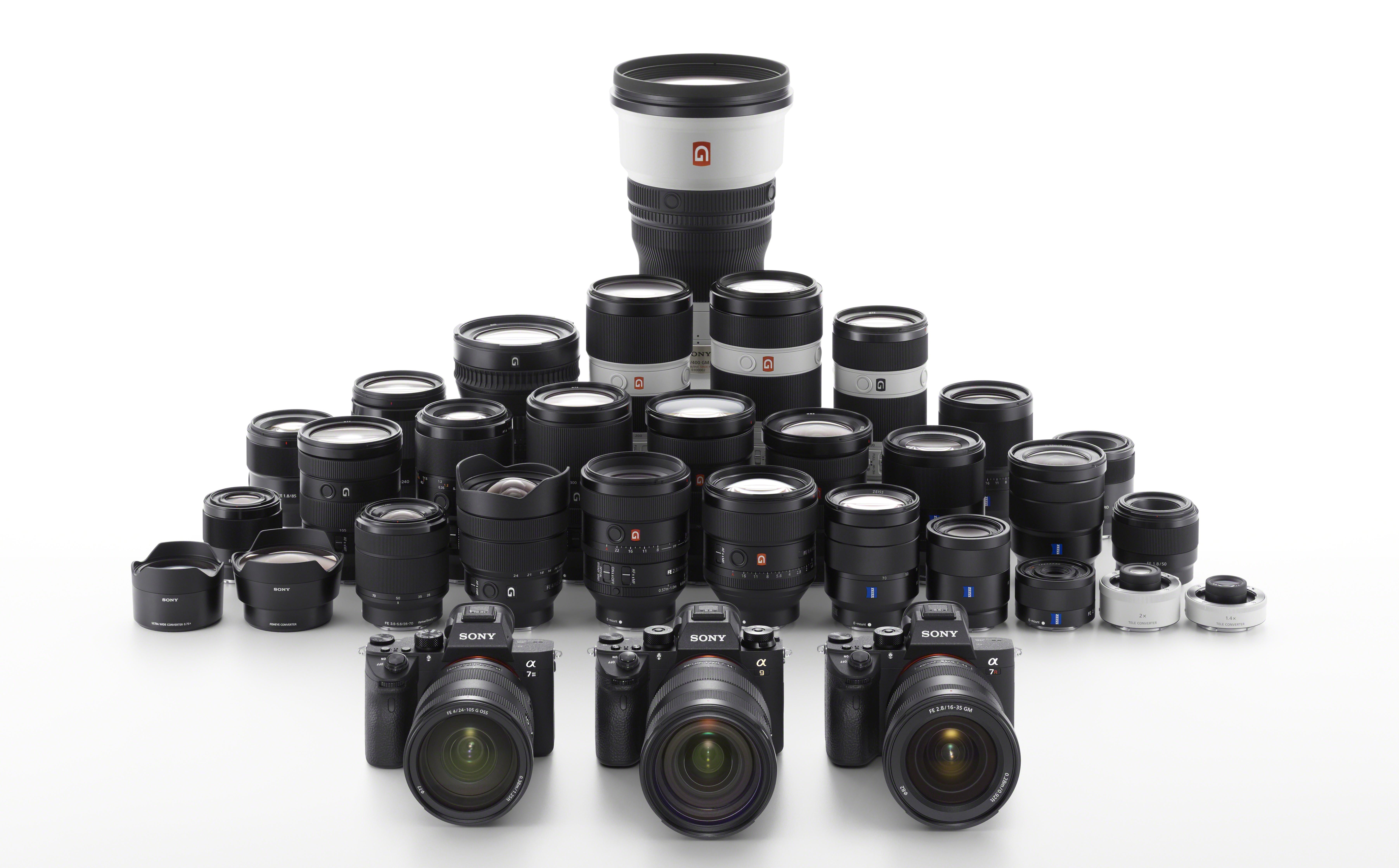Sony's camera lenses.