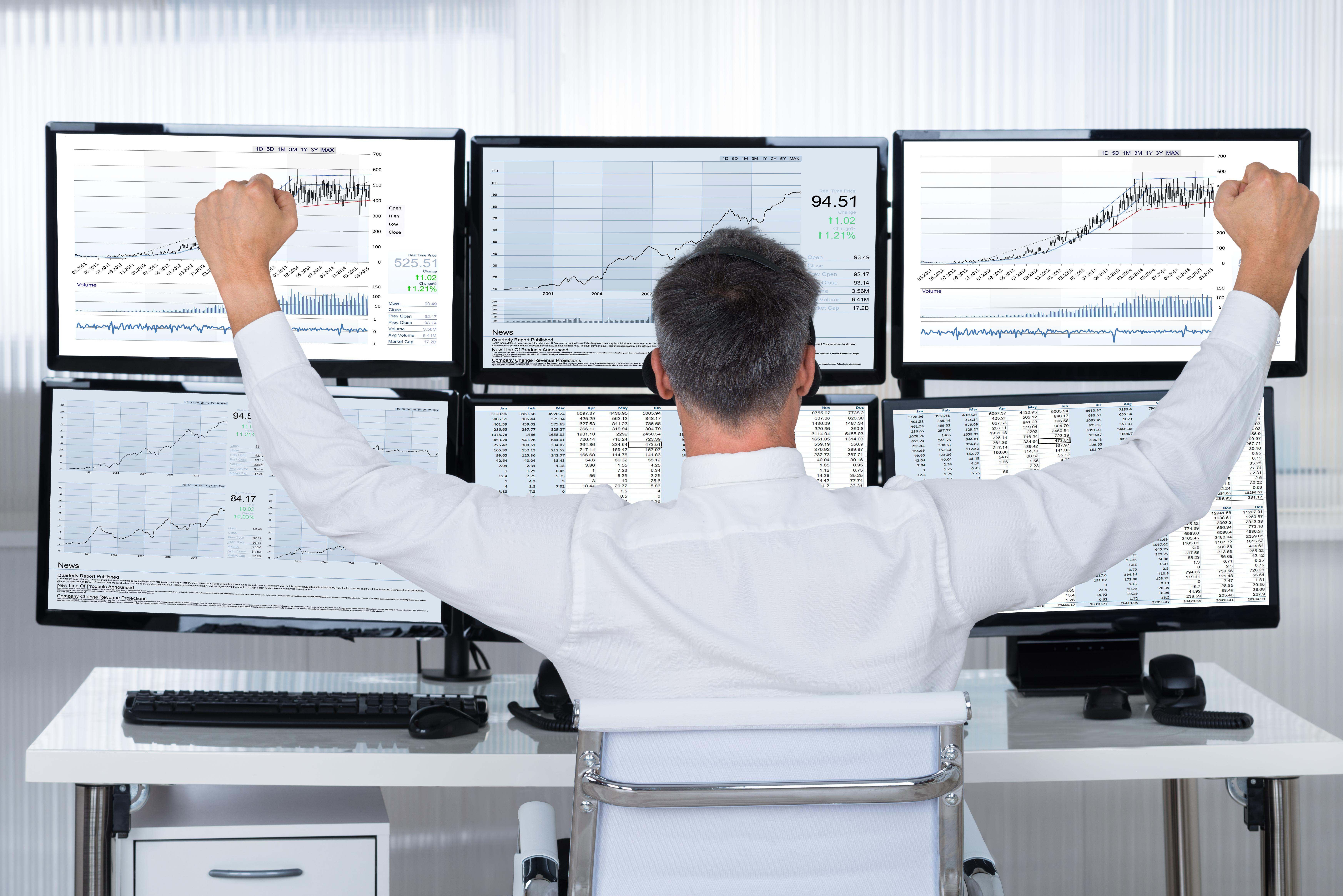 Elated stock trader.