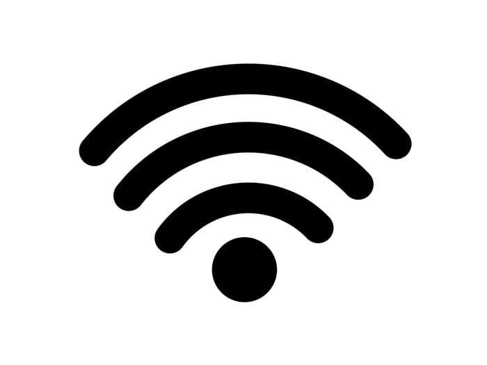 Wi-Fi icon in black