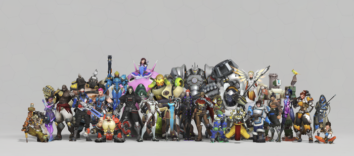 Cast of characters from Activision's Overwatch video game.