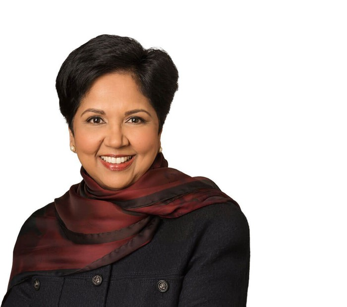 Portrait of Indra Nooyi.