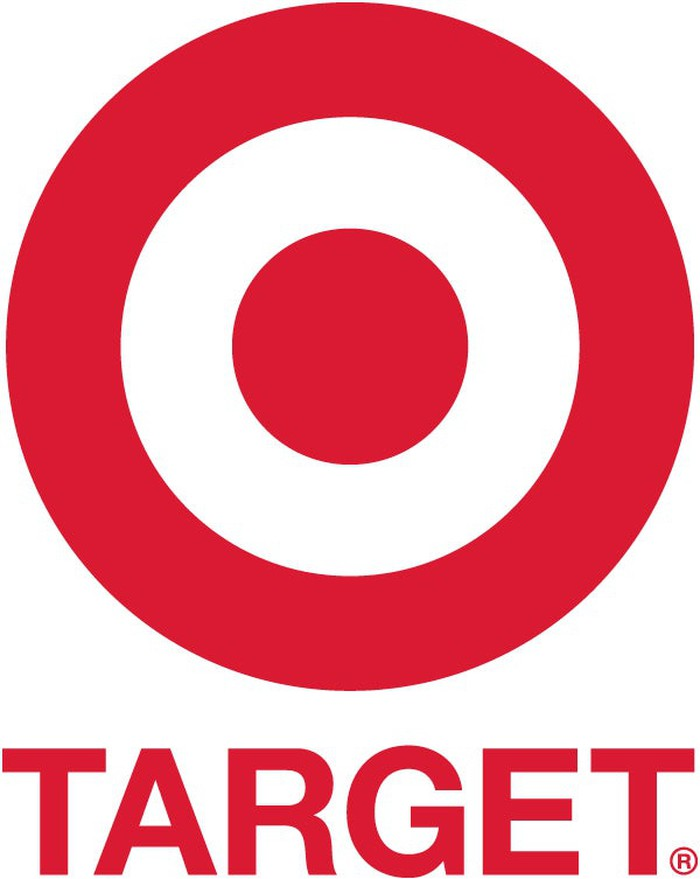Target's bullseye logo, red on white with the company name below the image.