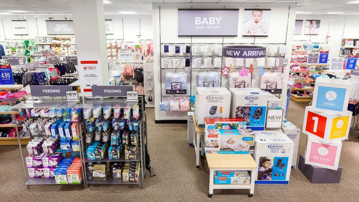 A J.C. Penney baby merchandise display