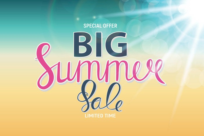 """Sign reading """"Special Offer -- Big Summer Sale -- Limited Time"""""""